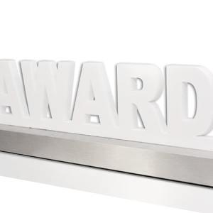 Acryl-Award auf Aluminium-Sockel
