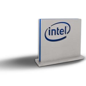 Intel Award - Logo-Ausschnitt auf Aluminium