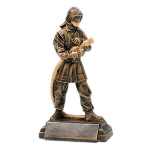 "Ansicht Pokal ""Firefighter-Action"" aus Resin."